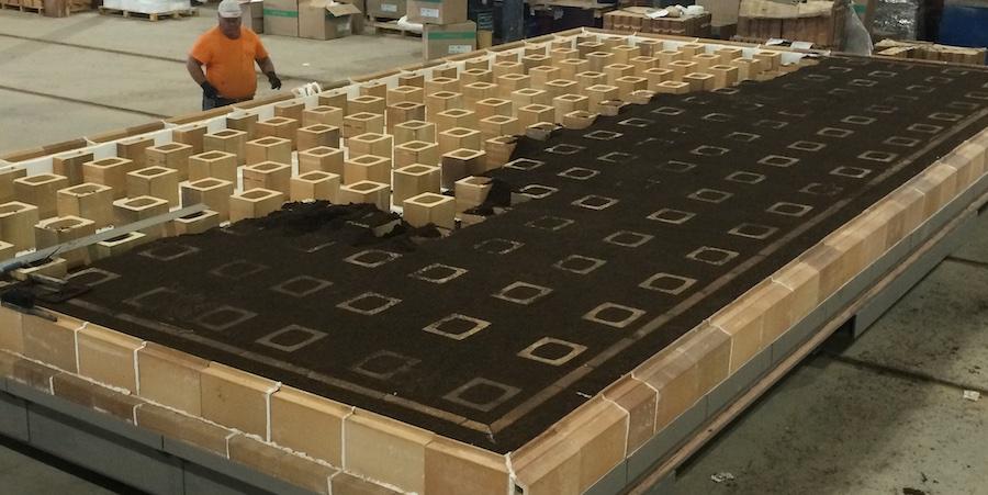 Kiln car refractory stiff extrusion 09